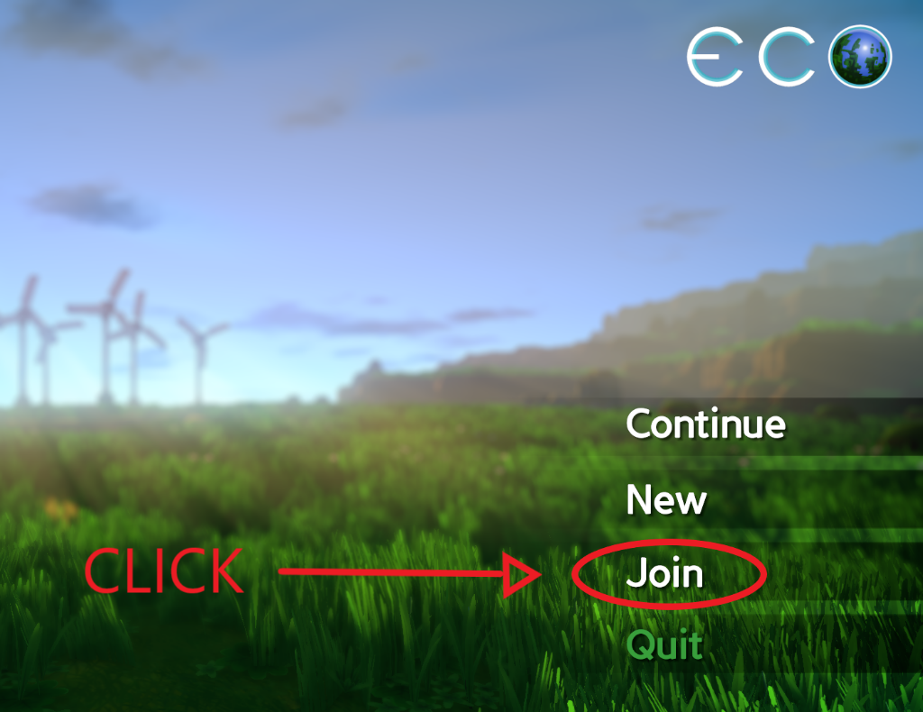 The Main Screen of Eco