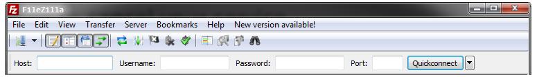 File Zilla Toolbar