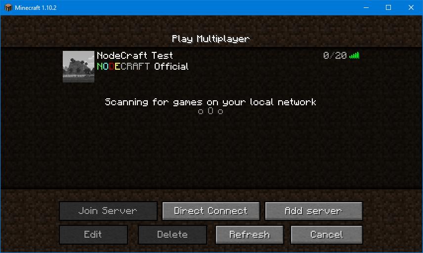 NodeCraft MOTD