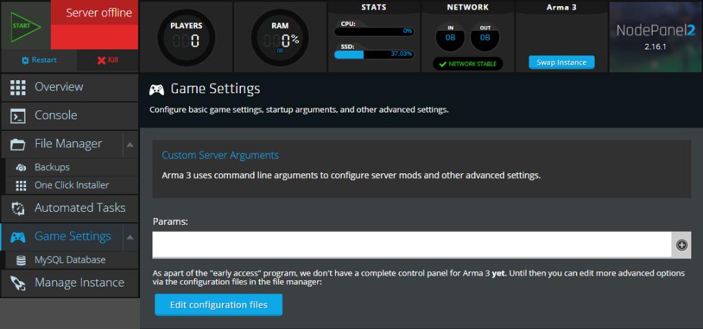 Arma 3 custom server arguments