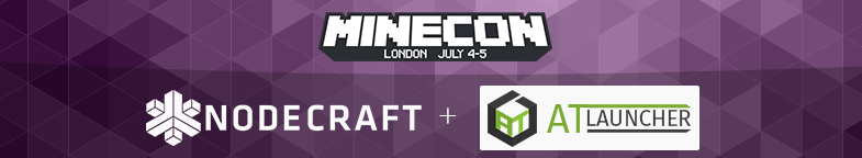 NodeCraft + Atlauncher at Minecon 2015.