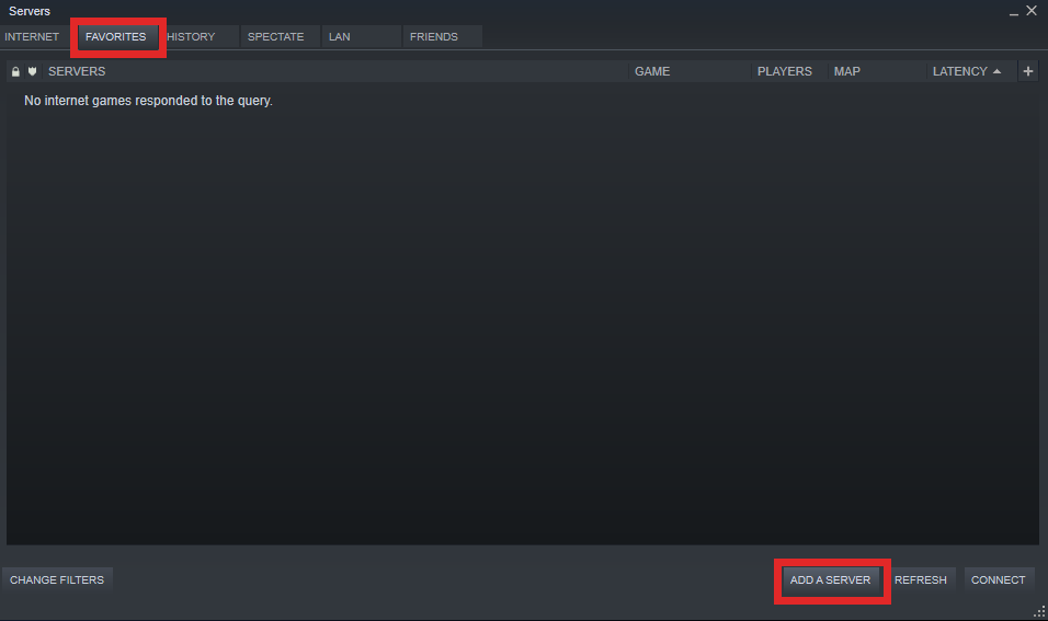 Steam Server List Adding a server to favorites