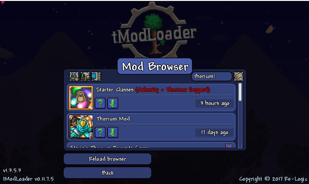 tModLoader's Mod Browser