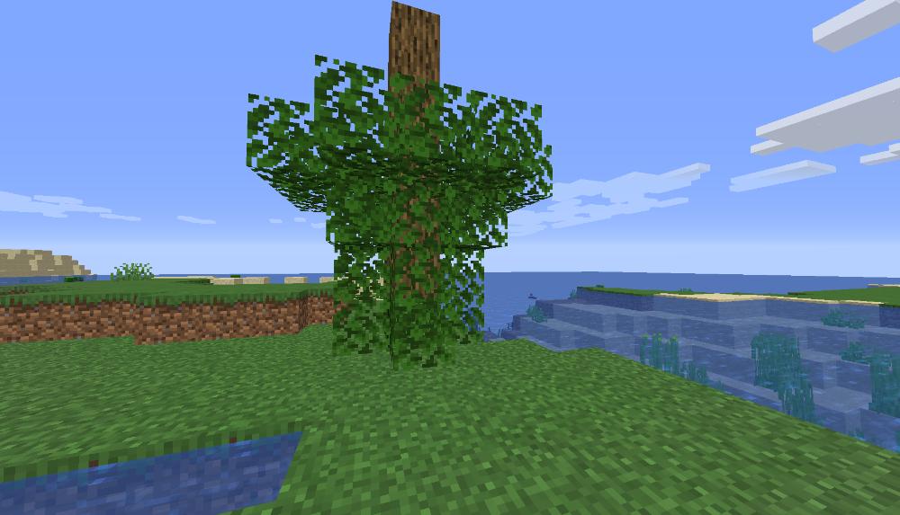 Upside down tree in Australia Minecraft server