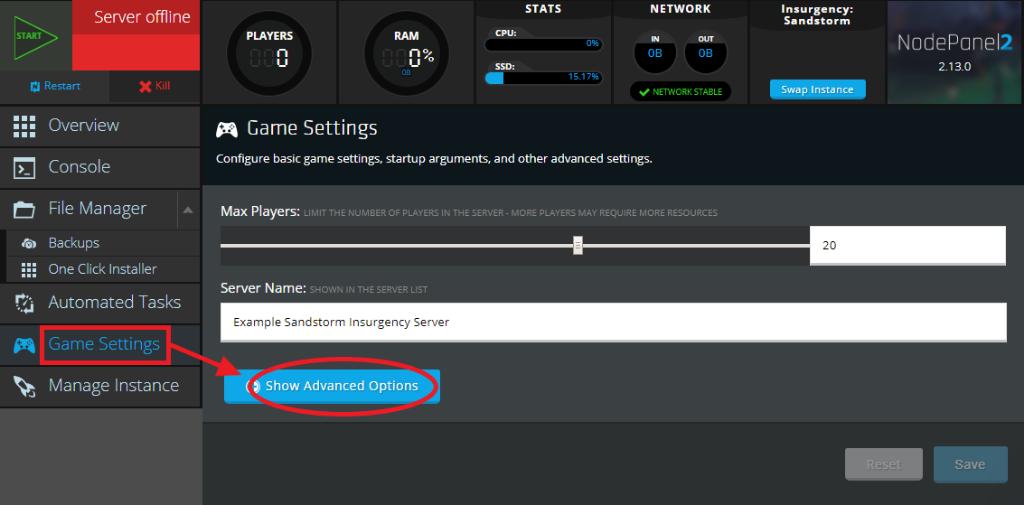 Sandstorm_Insurgency_game_settings_view