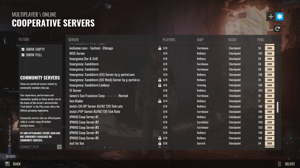 Joining your Insurgency: Sandstorm Server | Insurgency