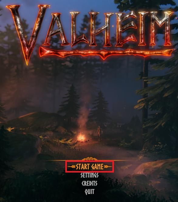Valheim's main menu