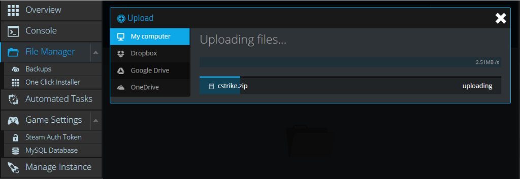 Uploading CS:S content to Garry's Mod server